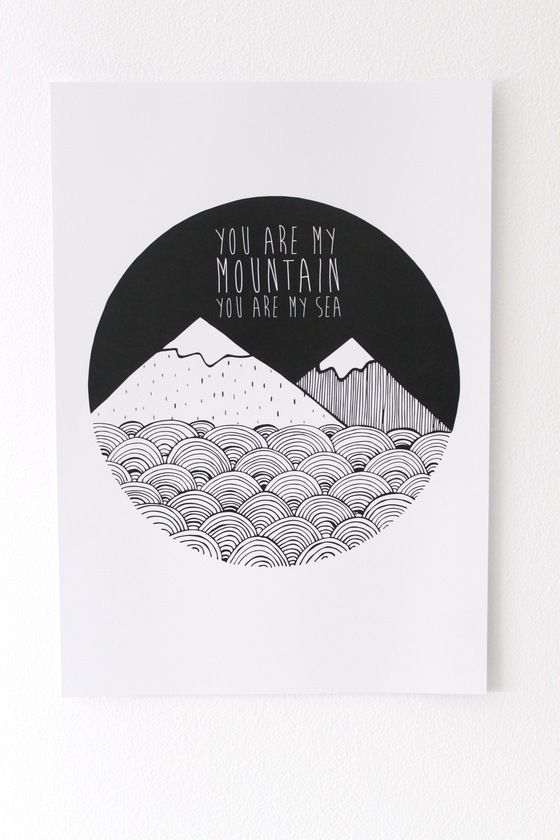 Image of BIFFY CLYRO MOUNTAINS PRINT