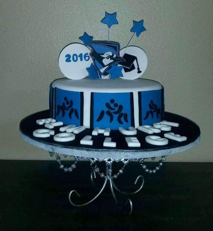 Wrestling graduation cake
