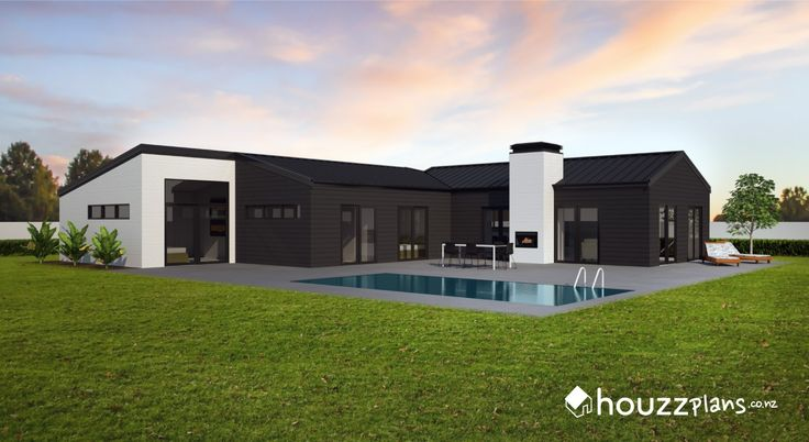 Vetro - Modern Contemporary House Plan .... Browse all house plans here: www.houzzplans.co.nz