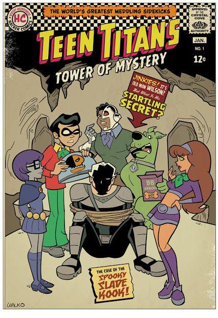 itsthelittlebluecar:  Teen Titans Tower Of Mystery by Bill Walko