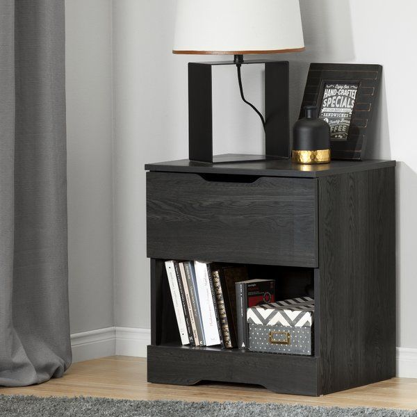 Holland 1 Drawer Nightstand in Gray Oak