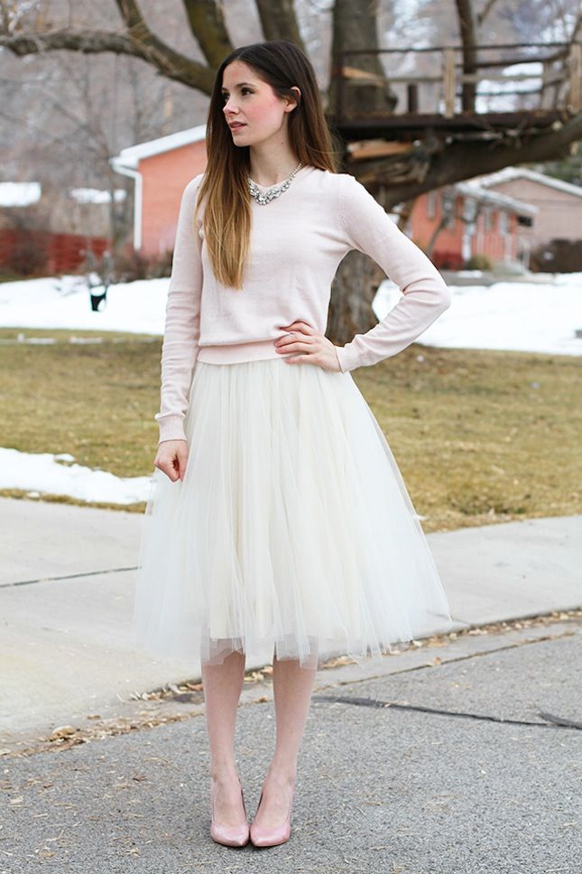 Wear this DIY tulle skirt to all of your holiday parties.