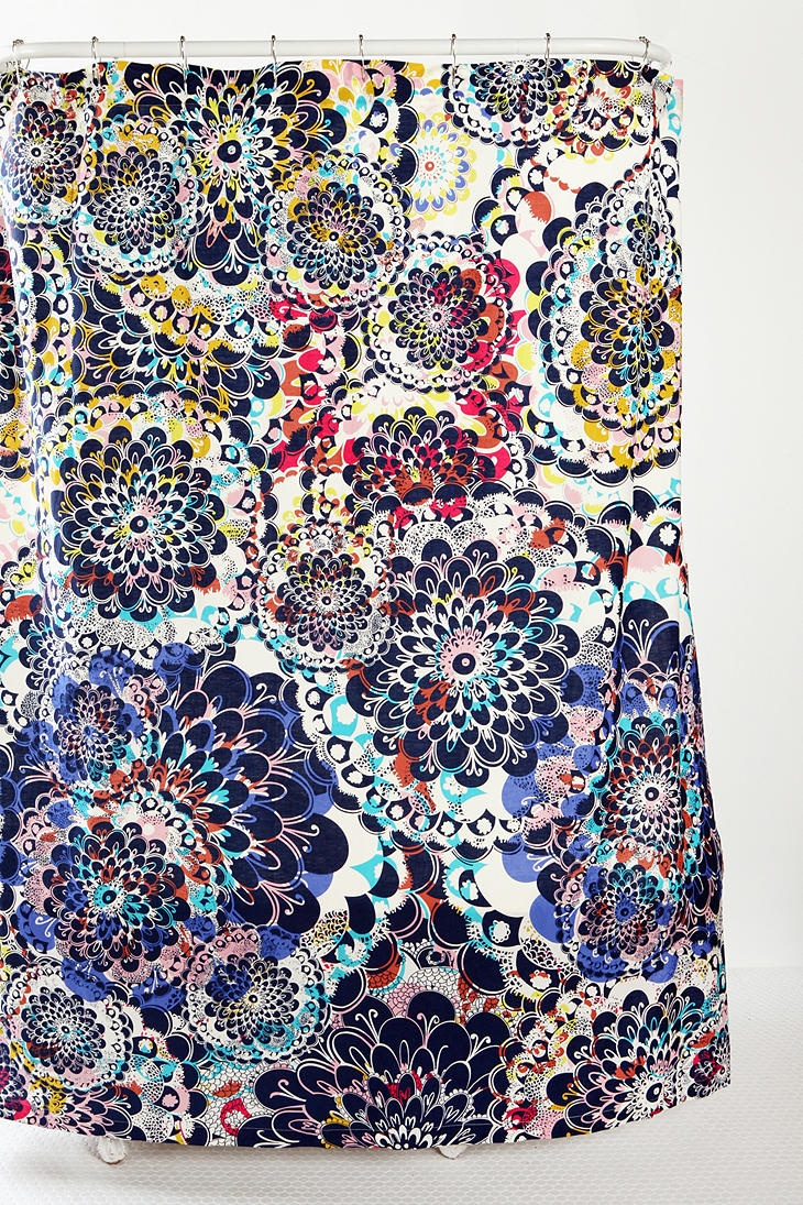 Peacock shower curtain urban outfitters - Kaleidoscope Shower Curtain
