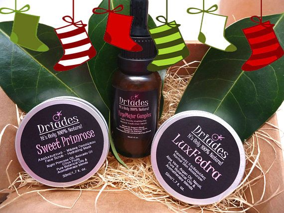 Natural skin care pamper me gift set. 3 items of your choice: Herbal face moisturizer, Facial mask and eye serum or face serum. The ideal all natural skin care gift for Christmas. The best skin for the organic skin care lovers. A great gift for Mom, husband, wife and best friend.  https://www.etsy.com/listing/537871946
