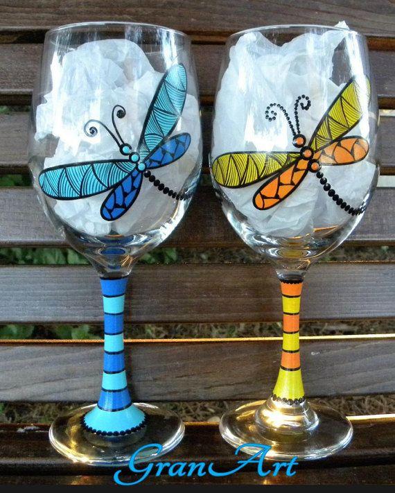 Les 25 meilleures id es de la cat gorie peinture sur verre sur pinterest bouteilles en verre - Peinture sur plateau en verre ...