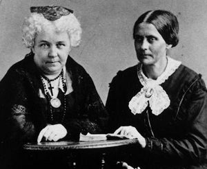 Elizabeth Cady Stanton & Susan B Anthony. Thank you ladies for giving us the right to vote.