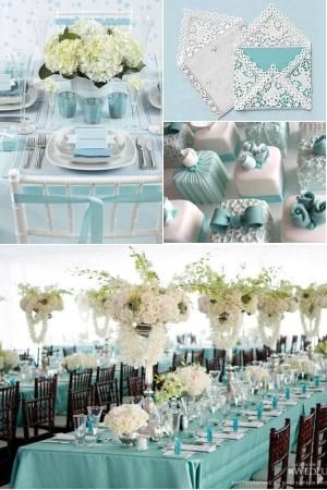 Tiffany Blue Inspired Wedding Cake