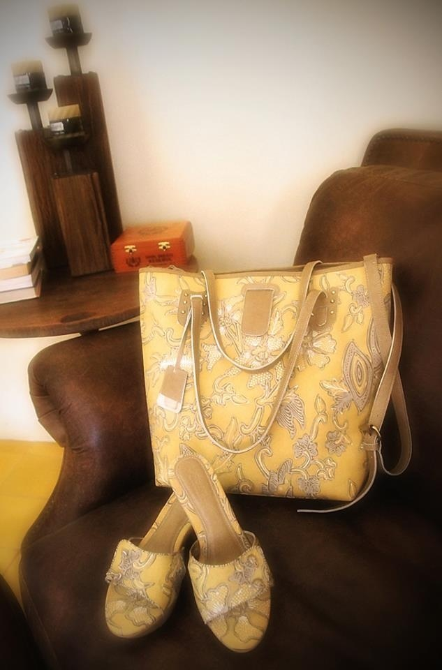 Perfect Combination! JAMBI Tote Bag & KUPANG Wedge Sandal by PRibuMI...