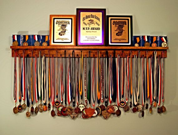 Premier 4ft Medal Hanger Award Display and Trophy Shelf $72.99+$12.99=$85.98
