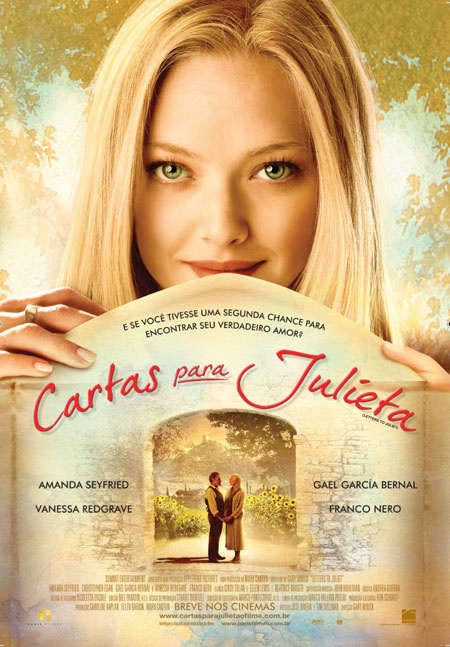 Cartas para Julieta...Muito bom!!!!! Surpreendente.