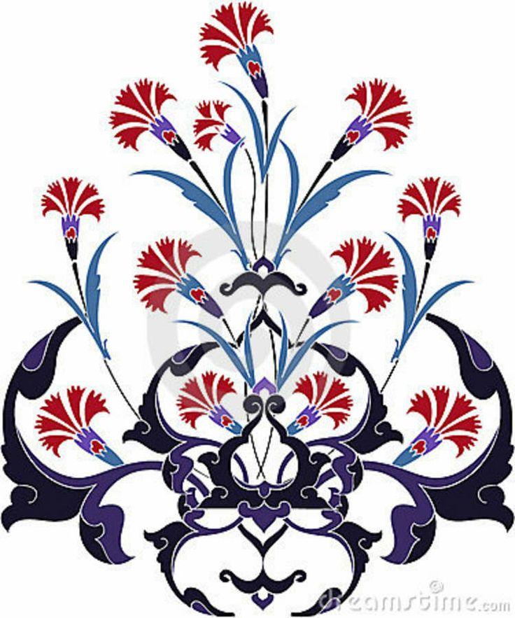 Traditional Ottoman Tulip Watercolor Wall Art Turkish Floral: Traditional-ottoman-turkey-turkish-tulip-design-8571820