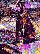 """New artwork for sale! - """" Doberman Dog Hunting Dog  by PixBreak Art """" - http://ift.tt/2vy45E1"""