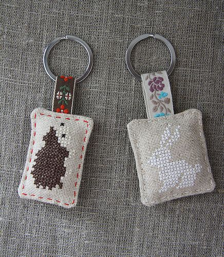 Cross Stitch Keyrings