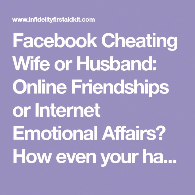 Emotional cheating on the internet