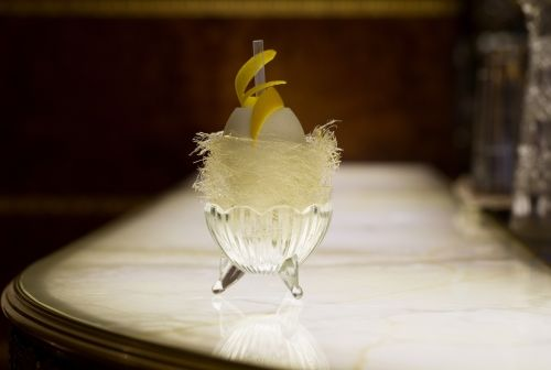 "The Ramos Fizz is also known as the ""One and Only One"". At the time of creation, Henry Charles Ramos used to employ up to 30 ""shaker boys"" who would shake the cocktail for as long as possible and then pass it along. http://www.theritzlondon.com/Rivoli.html"