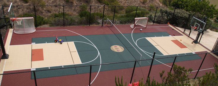 Pinterest the world s catalog of ideas for Backyard sport court ideas