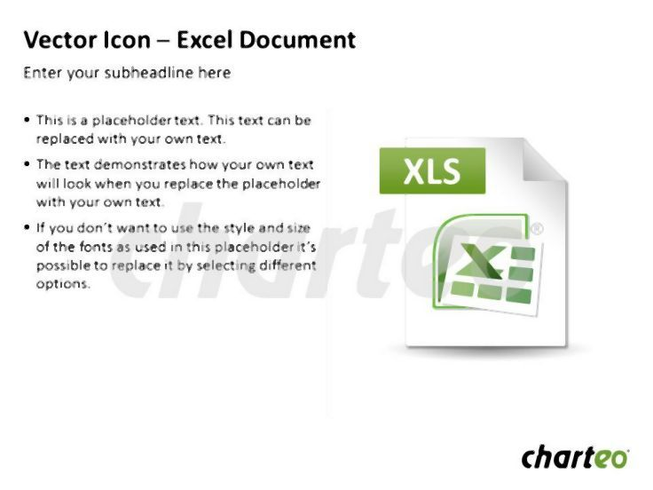 Have you tried our Excel document icon for PowerPoint? Download now at http://www.charteo.com/en/PowerPoint/Icons-Symbols/Vector-Icon-Excel-Document.html