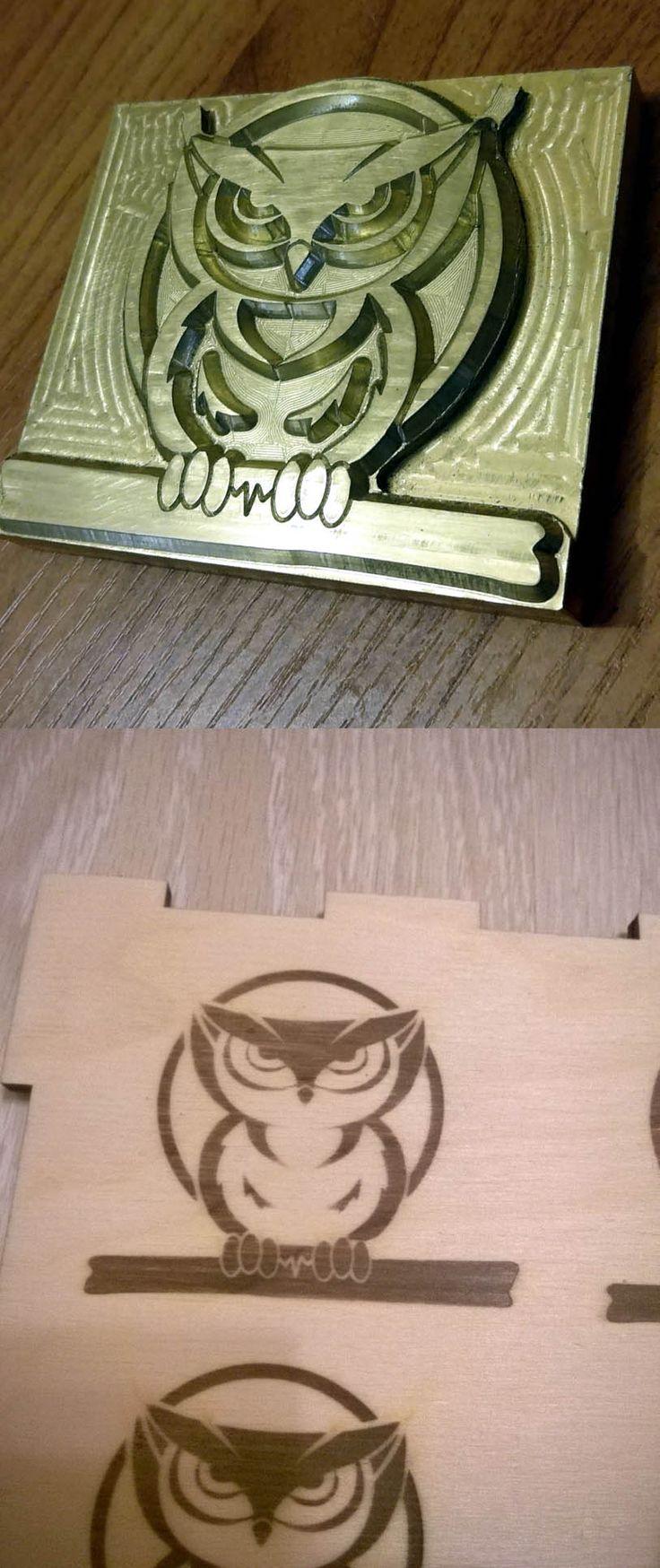 Custom branding iron with 250w leather brass stamp wood