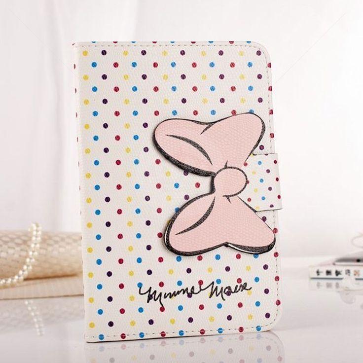 Capa Carteira para iPad Air Lacinho Minnie Bolinhas Coloridas