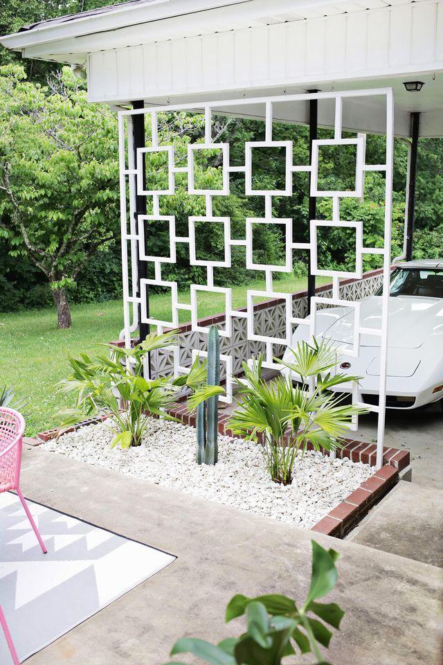 Best 25 mid century house ideas on pinterest mid for Trellis carport