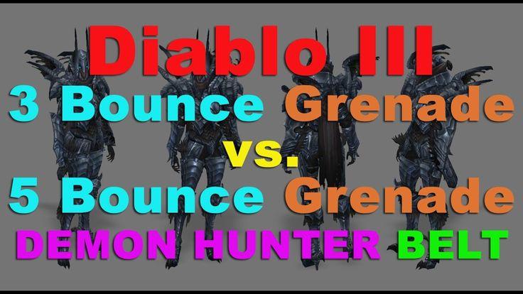 DEMON HUNTER: 3 BOUNCE GRENADE vs. 5 BOUNCE GRENADE BELT (UE & M6 Grenade BUILDS) #Diablo #blizzard #Diablo3 #D3 #Dios #reaperofsouls #game #players