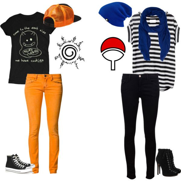 """Naruto and Sasuke"" by night-skye on Polyvore"