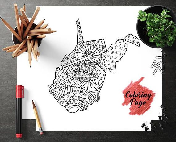 West Virginia Map Coloring Page Coloring Page For Adult Map