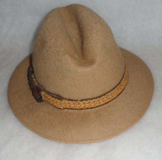 1950's BILTMORE VINTAGE Fedora / Llama / Silk Lined / Urban Retro Fashion/Made In Canada by Biltmore Hats/ Fashion Accessory/ Dapper Fashion