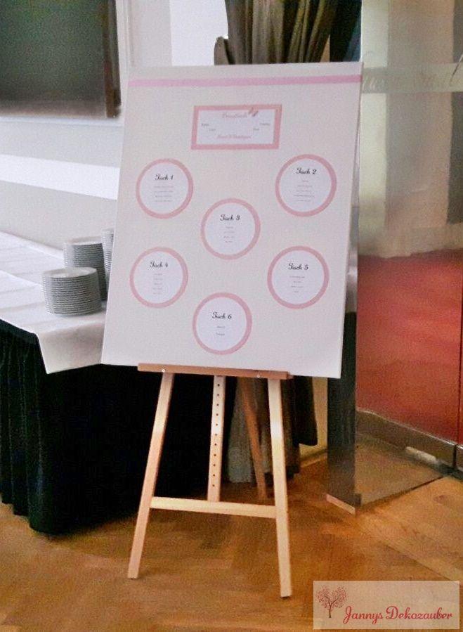 Staffelei Tischplan Leinwand rosa schmetterling Hochzeitsdeko Tischdeko Hochzeit individuell hangemacht handmade