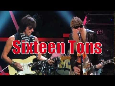 Jeff Beck and ZZ Top - Ernie Ford's SIXTEEN TONS - YouTube - Cool combination of old and new