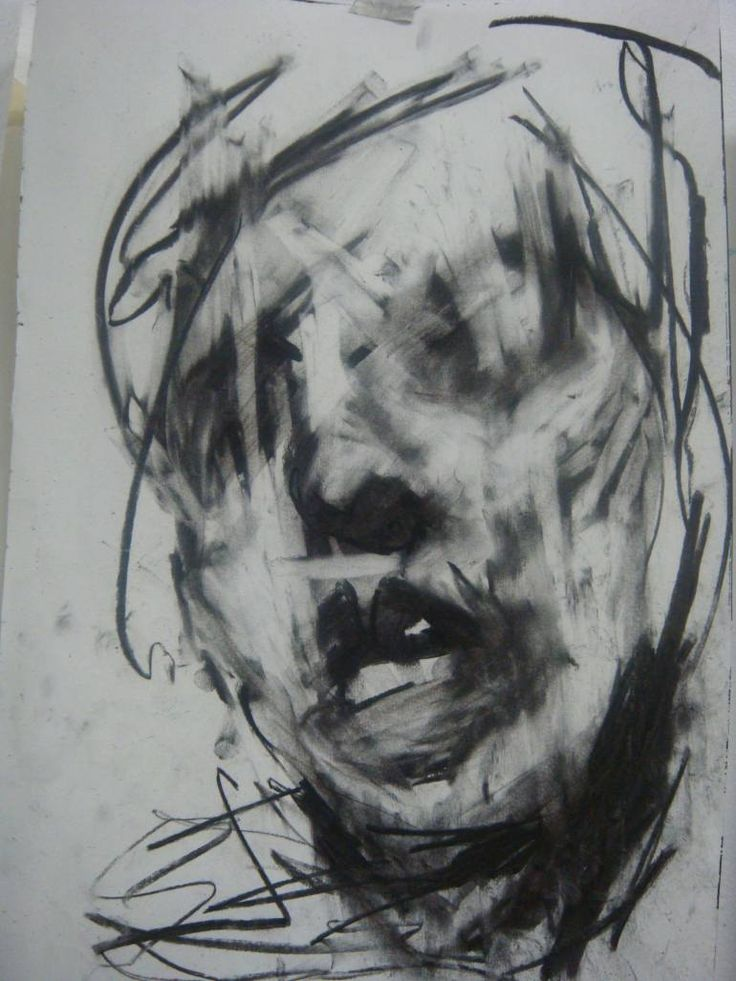 "Saatchi Art Artist Nell Allen; Drawing, ""Charcoal head study. January 2011. Sketch book page."" #art"
