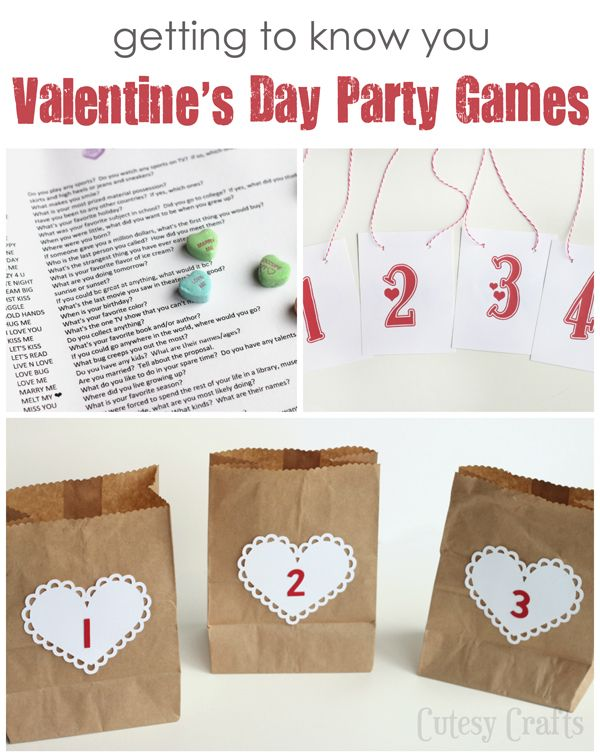 """Fun """"Getting to Know You"""" Valentine's Day Party Games!"""