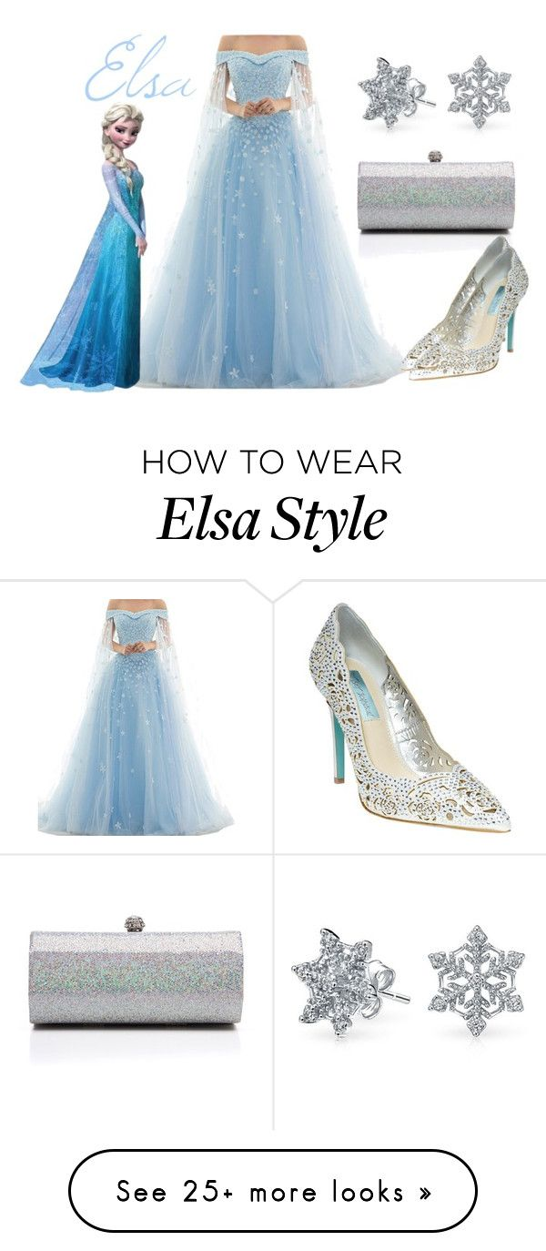 """Elsa"" by aimee716 on Polyvore featuring J. Furmani, Betsey Johnson, Disney, Bling Jewelry, Prom, frozen and disneybounding"
