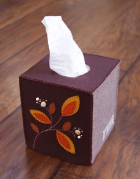 good idea to work with Felt!  Nikkie's Felt Leaves Tissue Box Cover by NikkiesNeedlework on Etsy, $34.00