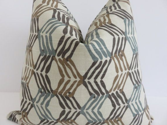 Light Bown Teal Beige Pillow Cover Pillow Cover Teal Pillow