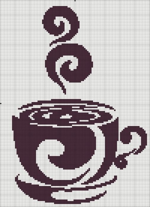 Schemes of tea and coffee / Embroidery / Cross Stitch Schemes
