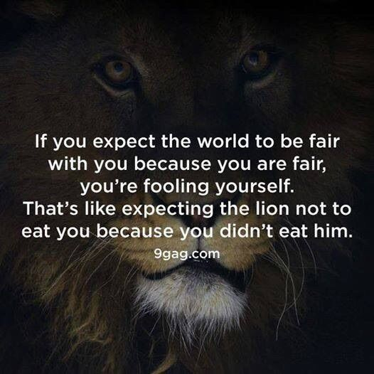 Don't expect anyone to owe you anything. Nothing worse than a false sense of entitlement