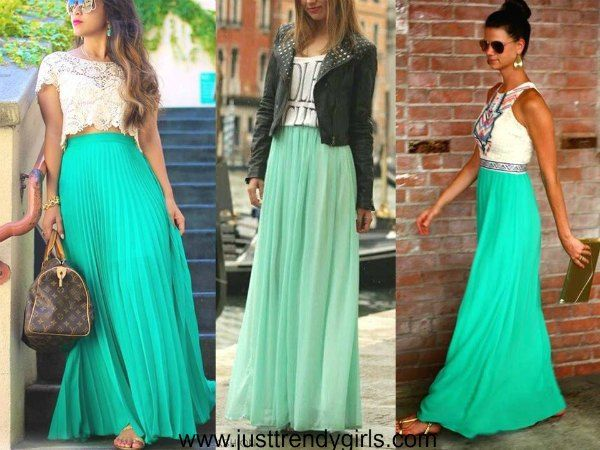 How to wear mint skirts Casual mint outfits styling ideas http://www.justtrendygirls.com/casual-mint-outfits-styling-ideas/