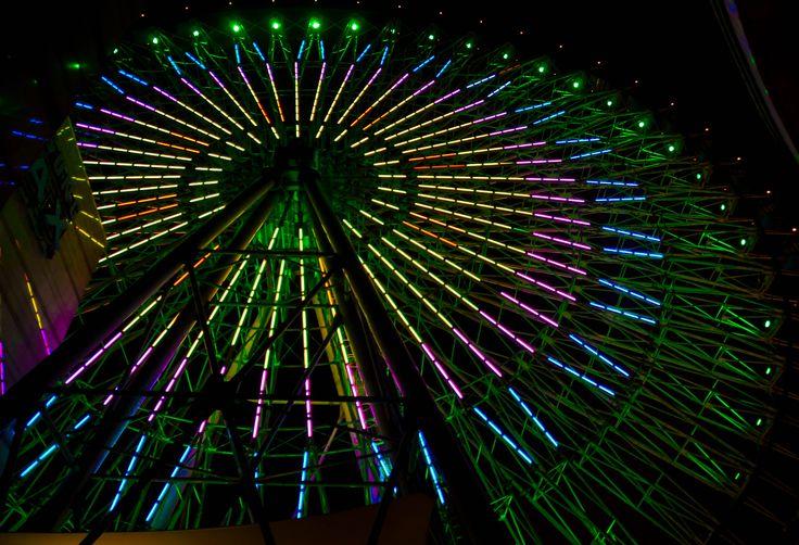 Miramar Ferris Wheel. Beautiful spot in Taipei to hangout at night!