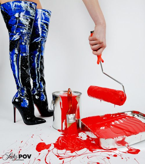 Painting the town Louboutin! In honor of Christian Louboutin\u0027s 20th  anniversary \u2013 20 days,