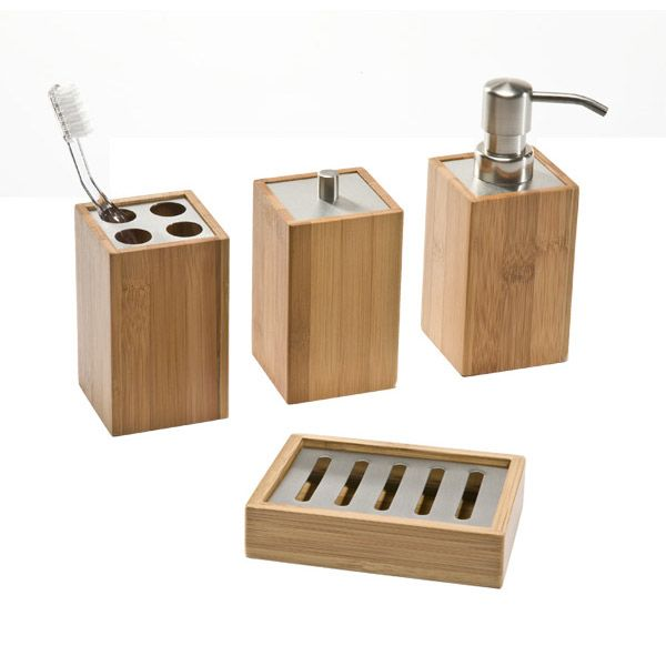 Add some style to your bathroom countertop with our environmentally friendly Bamboo Countertop Essentials.