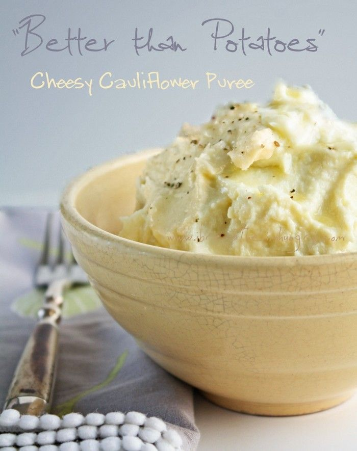 Better than Potatoes Cheesy Cauliflower Puree (low carb and gluten free) - ibreatheimhungry.com