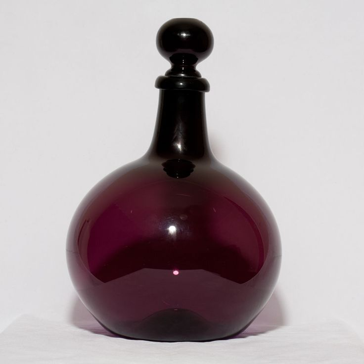 19thC. Amethyst glass Apothecary bottle