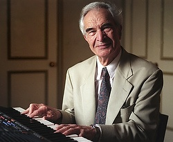 """Famous jazz musician Dave Brubeck. His work led him to the Catholic Church. """"The musical setting of the Lord's Prayer for """"To Hope'' came to Brubeck in a dream. It was after he woke up and wrote down what he had dreamed as best as he could remember that he decided he would become a Catholic.""""  Read more here."""