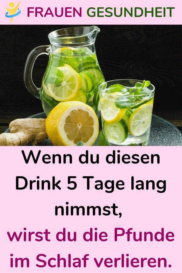 Wenn du diesen Drink 5 Tage lang nimmst, wirst du die Pfunde im Schlaf verlieren.
