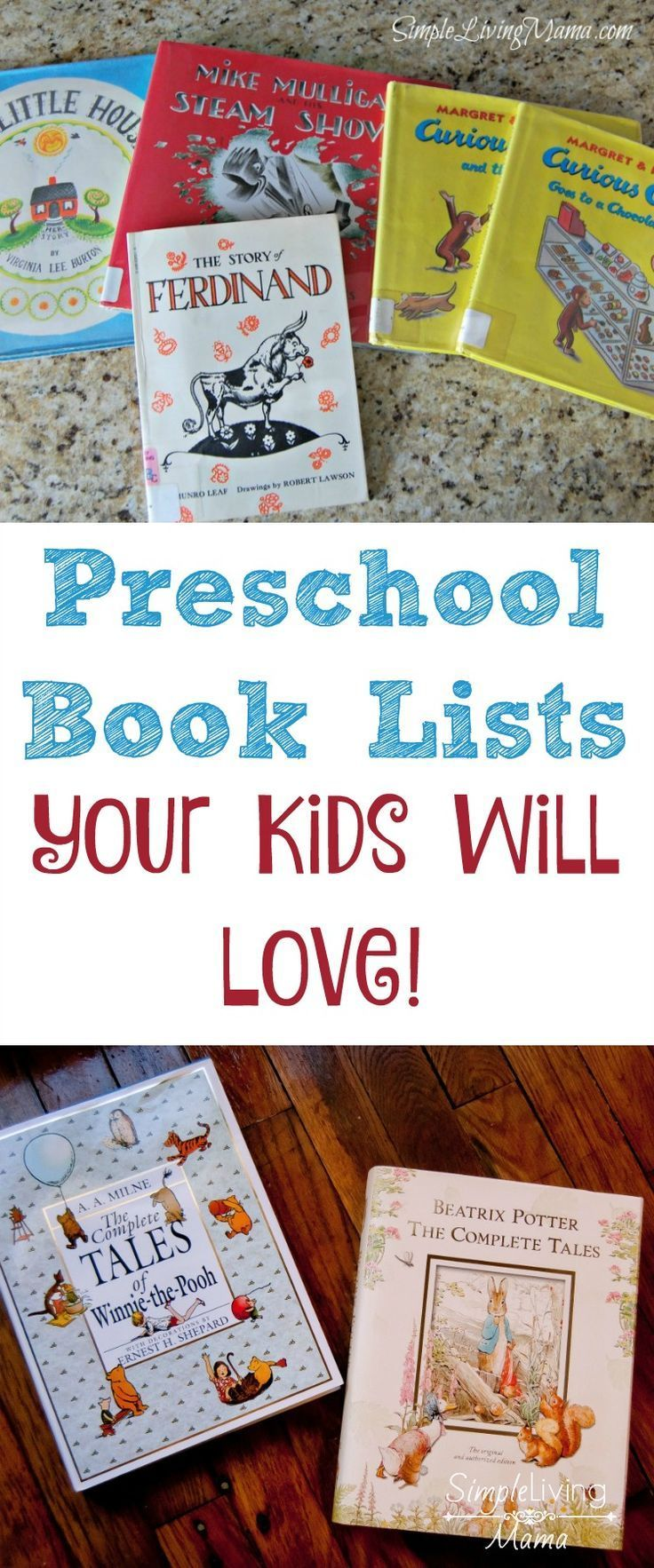 These preschool book lists will give you some amazing ideas for books to read to your preschooler. Give your child a whole new world through books!