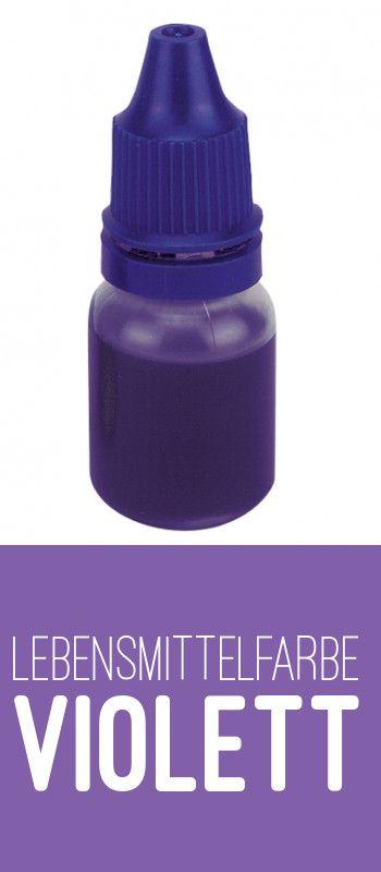 Lebensmittelfarbe violett zum schnellen Einfärben von Teig oder auch Fondant. #Lebensmittelfarbe