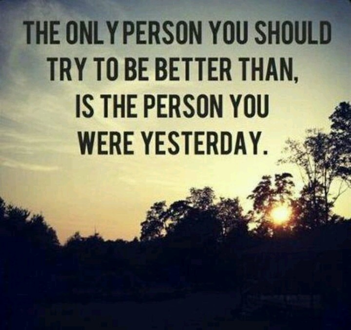 Always Strive To Improve Yourself To Become Better Today: Don't Compare Yourself To Others