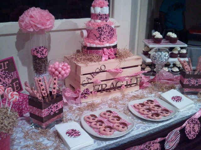 Pink Safari Baby Shower #pinksafari #babyshower