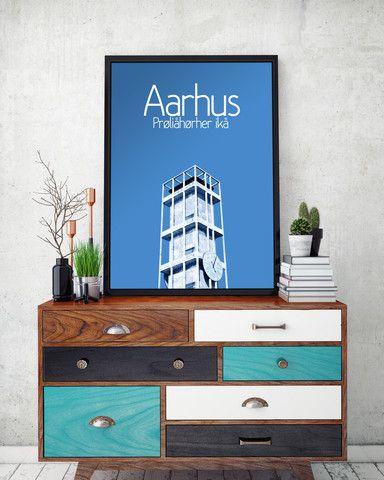 Plakat aarhus og arhusiansk ordsprog